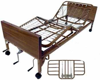 Multi-Height Manual Bed, With Half Rails