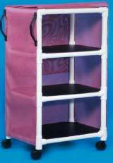 Multi-Purpose PVC Linen Cart w/ 3 Shelves