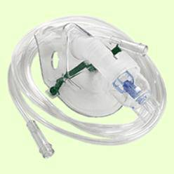Nebulizer Adult Mask 7ft Tubing Side Stream