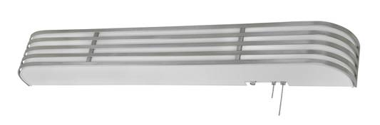 Satin Nickel Fluorescent Contemporary Overbed Light