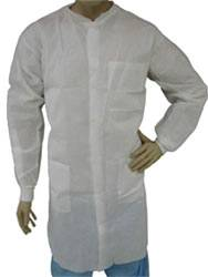 White Plain Front Lab Coats