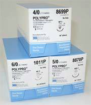 Nonabsorbable Mono Poly Sutures for NBV-1NBV-1 Taper Point