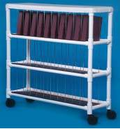 PVC Notebook Chart Rack, Holds 30 Binders