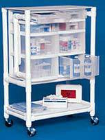 PVC Nursing Supply Cart