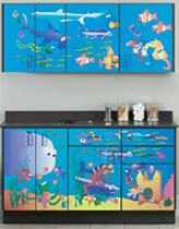 Ocean Commotion Themed Pediatric Cabinet Set