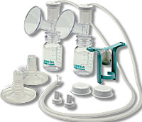 One-Hand Breast Pump/Dual Hygienikit w/ Flexishields