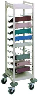 Open Horizontal Chart Rack, 10 Binder Capacity