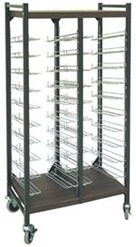 Open Horizontal Chart Rack, 20 Binder Capacity