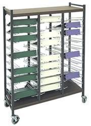 Open Horizontal Chart Rack, 30 Binder Capacity
