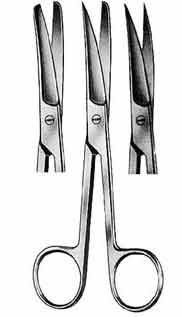 Mid-Grade Operating Scissors, Curved, Sharp/Blunt
