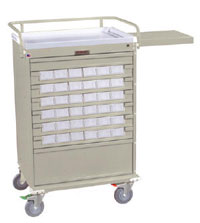 All-Aluminum Medication Box Cart