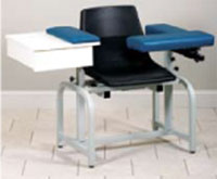 Optional Padded Flip-Arm For Phlebotomy Chairs