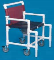 Bariatric Shower Chair Commode w/ Deluxe Soft Seat