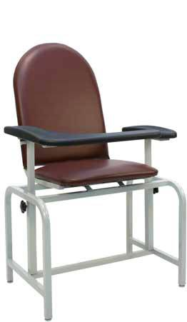 Padded Blood Drawing Chair w Flip-Up Arm Rest