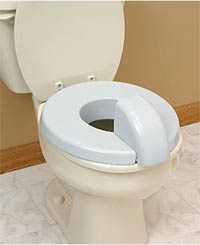 Padded Toilet Seat with Splash Guard