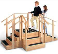 Patented 3-in-1 Training Staircase