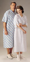 Patient Gown  w/ I.V. Sleeve and Telemetry Pocket