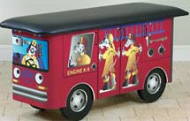 Pediatric Dalmatian Fire Truck Treatment Table