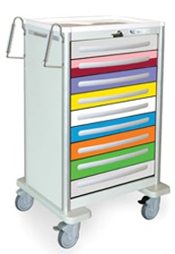 Pediatric Emergency Steel Medical Cart