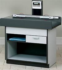 Pediatric Exam Table w/ Open Storage & Digital Scale
