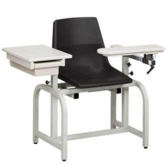 Phlebotomy Chair w/ Flip Arm & Drawer