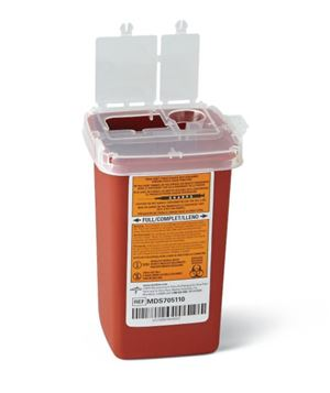 Phlebotomy Sharps Container 1.5 quart