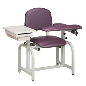 Fully Padded Blood Drawing Chair w/ Flip Arm & Drawer
