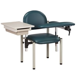 Padded, Blood Drawing Chair w/ Padded Flip Arm and Drawer