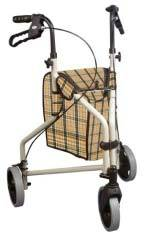 Plaid Tan Aluminum Rollator