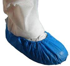 Blue Polyethylene Shoe Covers
