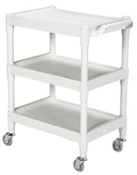 Plastic Utility Cart w/ 3 Shelves