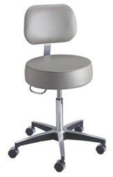 Pneumatic Exam Stool w/ Backrest