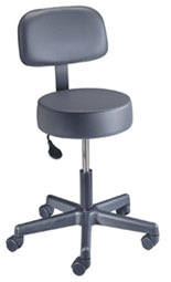 Pneumatic Exam Stool Back and ABS Base