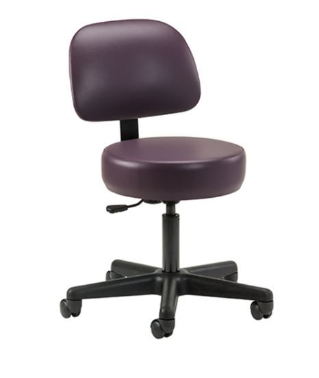 Pneumatic Height Adjustment Exam Stool with Backrest