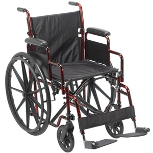Flip Back Deck Arm Wheelchair 18in