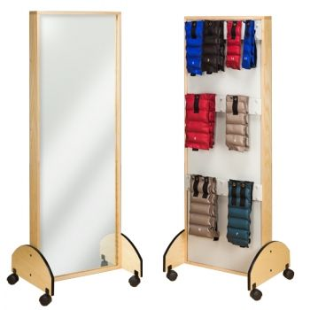 Mobile Mirror  Weight Rack