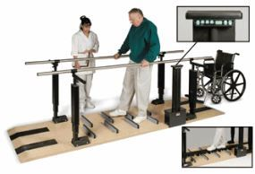 Power Height Parallel Therapy Bars