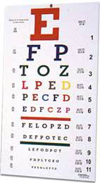 Professional Colored Eye Chart