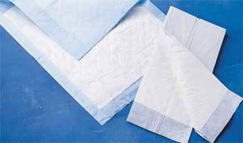 23in x 26in Protection Plus Fluff Filled Disposable Underpad