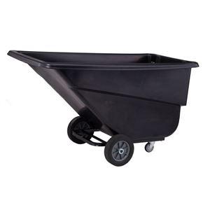 Large Poly Tilt Linen Cart 1.1 Cubic Yd. Capacity