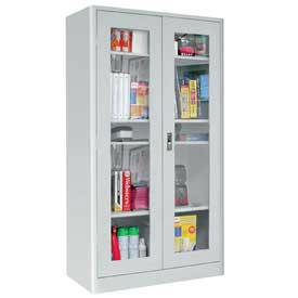 Beau Radius Edge Display Door Storage Cabinet Adj. Shelves