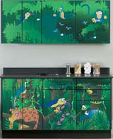 Rainforest Follies Themed Pediatric Cabinet Set