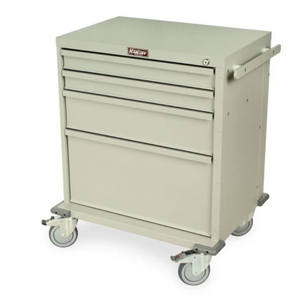 Rapid Response Crash Cart Four Drawers Key Lock Sand