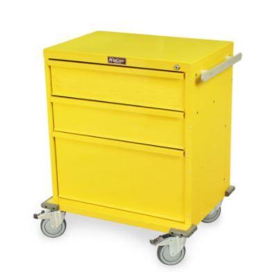 Rapid Response Crash Cart, Four Drawers, Key Lock,