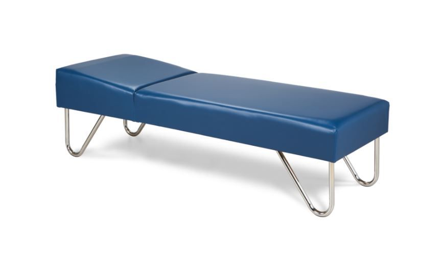 Recovery Couch with Chrome Legs
