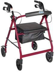 Red Aluminum Rollator