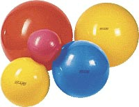 Red Fitness Exercise Balls - 55 cm