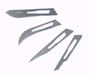 Removable Carbon Steel Blades For Disposable Scalpels No. 15
