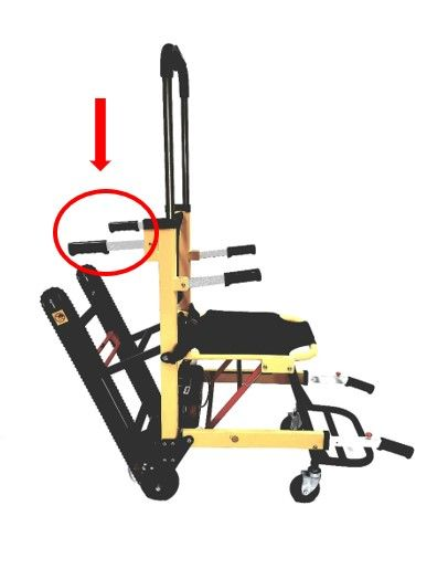 Replacement Rear Handle Bars for Stair Chair