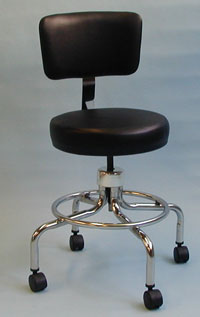 Stool w/ Backrest